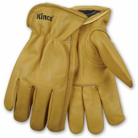 International 98RLXL Grain Cowhide Gloves, Black Fleece Thermal Lining, Keystone Thumb, Shirred Elastic Back, Extra (Black Grain Cowhide Glove)