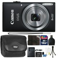 Canon IXUS 185 / ELPH 180 20MP 16x ZoomPlus Black Digital Camera with Top Accessory Bundle