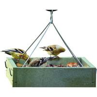 Bird's Choice Green Solutions Green Plastic Tray Bird Feeder GSHPF100