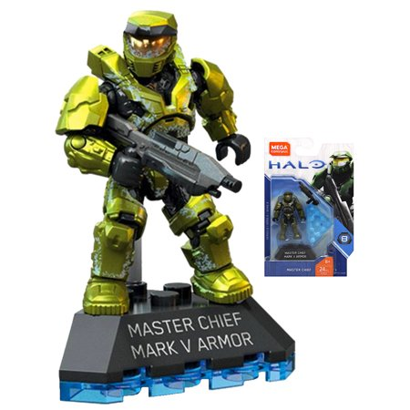 Master Chief Mark V Armor Halo Heroes Mega Construx Figure 24