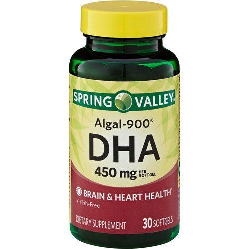 Spring Valley Algal-900 DHA Dietary Supplement Softgels 450mg, 30ct