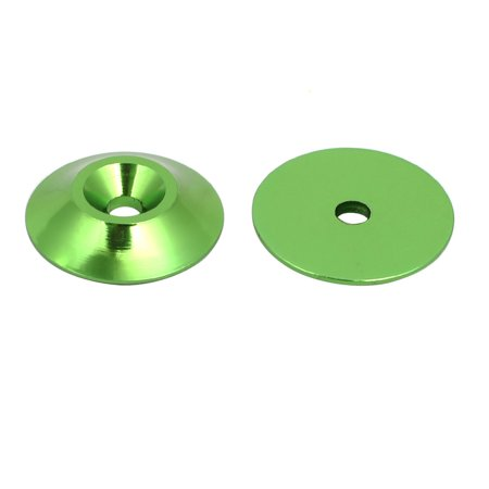 M3 Aluminium Alloy Cone Shape Engine Bay Fender Bumper Washer Green 15pcs - image 1 de 2