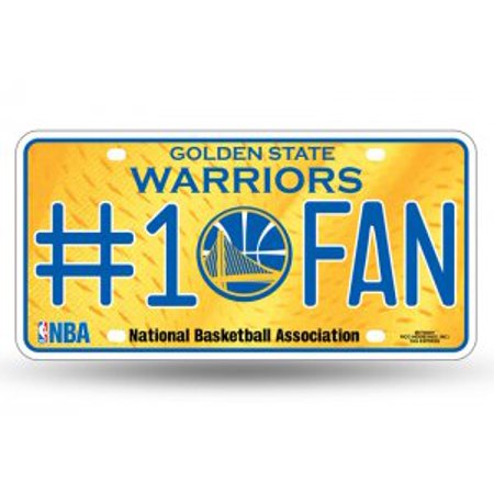 b09da31b7c7c43 Golden State Warriors #1 Fan Metal License Plate - image 1 of 2 ...
