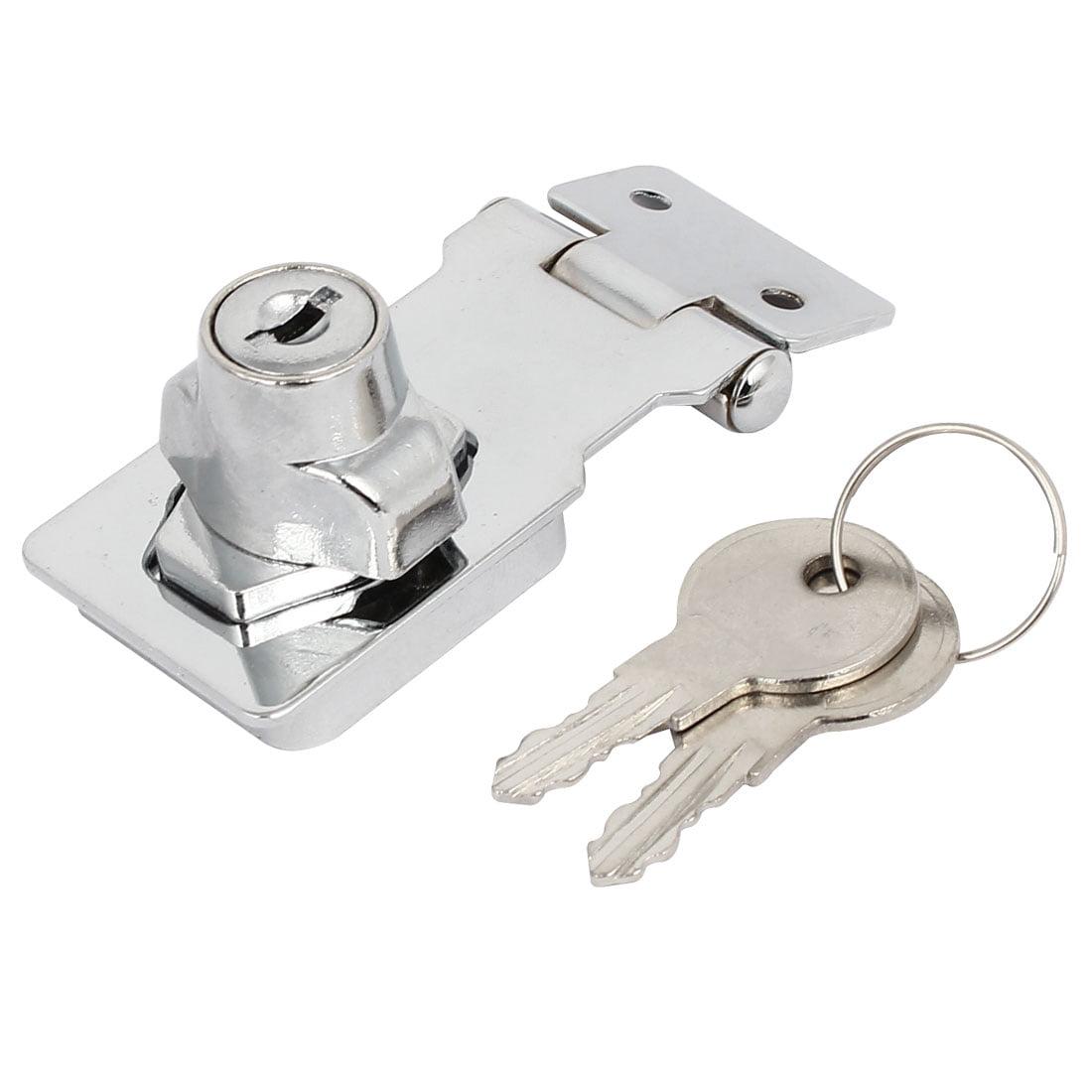 80mmx32mmx30mm Metal Screw Fixing  Guard Keyed Hasp Latch Lock