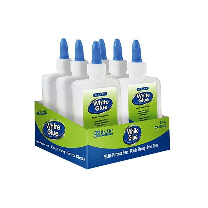 (Price/Case of 24)Bazic Products 2013-24 7 5/8 Oz. (225 Ml) Jumbo White Glue W/ Pdq Display