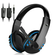 TSV Stereo Gaming Headset for PC PS4 Xbox One, Noise Cancelling Over Ear Headphones with Mic, Bass Surround, Soft Breathing Earmuffs Headphones fits for Laptop Mac Nintendo Switch