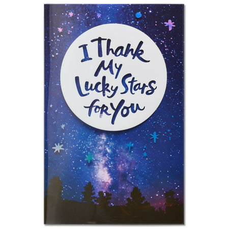 - American Greetings Lucky Stars Birthday Card with Foil