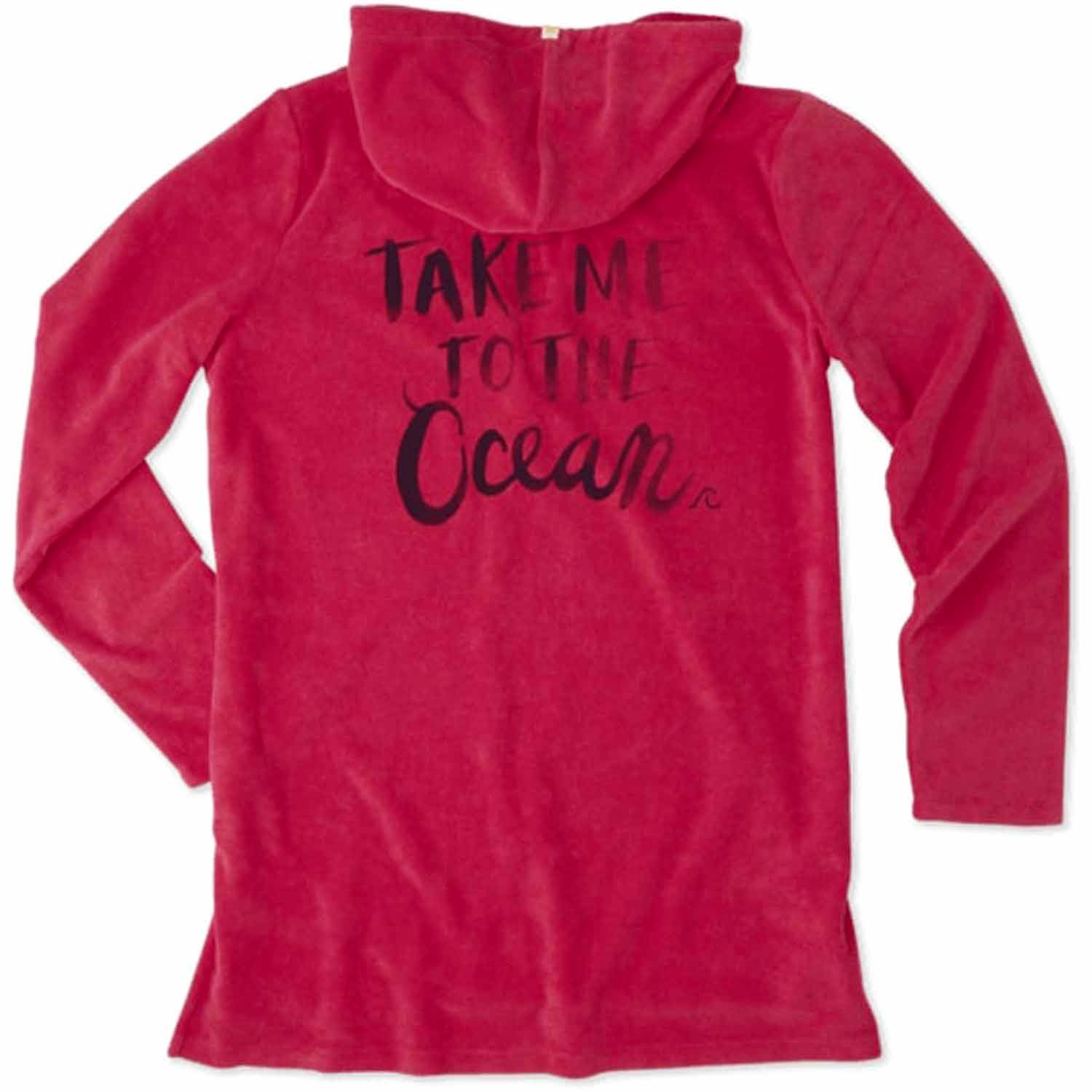 Life is Good. Women's Terry Beach Cover Up: Take Me Ocean...