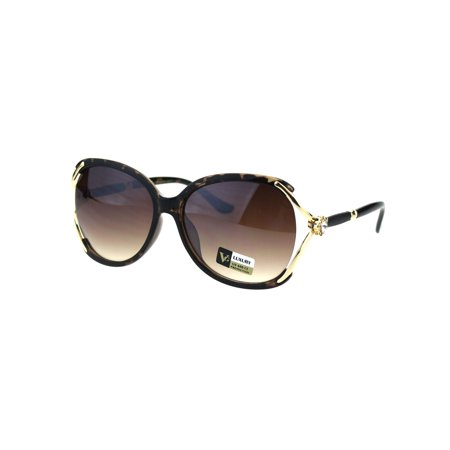 VG Eyewear Designer Fashion Diva Womens Plastic Sunglasses Tortoise Brown