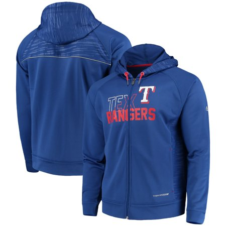 Mlb Hooded Therma Base - Texas Rangers Majestic MLB Chin Music Full Zip Therma Base Hoodie - Royal