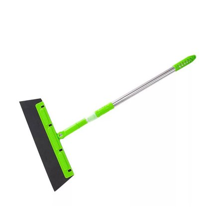 Tuscom Removable Floor Squeegee Broom Floor Rubber Floor Wiper with Handle Stainless Steel Household Broom Cleaning Sweeper,Perfect for Wet Bathroom,Pet Hair,Carpet,Tile,Pool Deck Sweeping