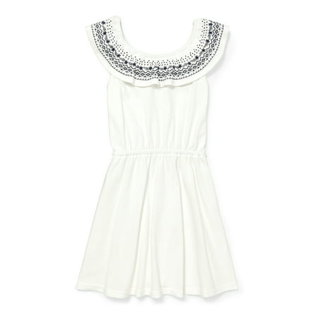 Girls' Ruffled Jersey Dress
