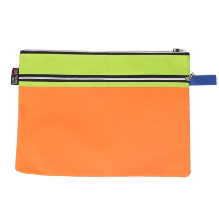 Office Canvas Zippered Paper Document Protective File Bag Storage Holder - image 3 of 3
