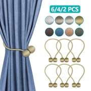 2/4/6-Pack Magnetic Curtain Tieback Decorative Rope Holdback Simple Modern Tie Backs Holders for Home Curtains, 16 Inch Long