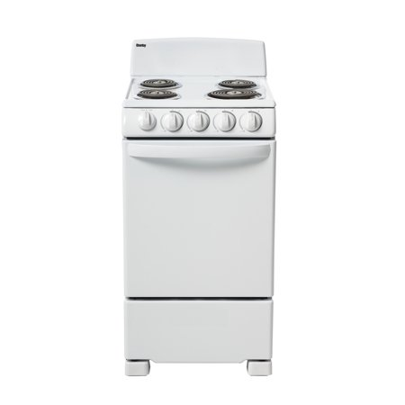 "Danby 20"" Wide Electric Range with 2.3 Cu Ft Oven in White, DER202W"