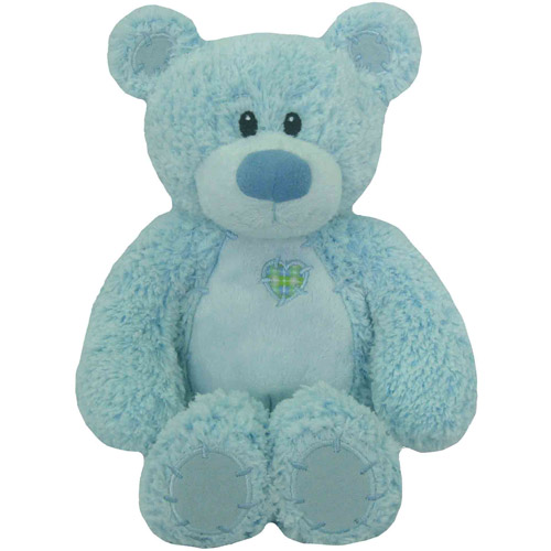 "First & Main Easter Plush Stuffed Blue Tender Teddy, 8"" Sitting Position"