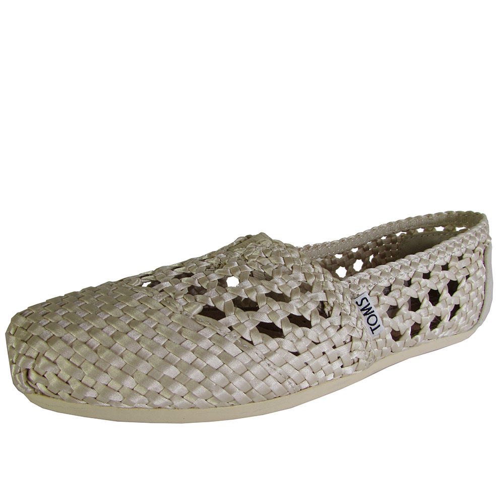 Toms Womens Woven Classics Slip On Alpargata Flat Shoe