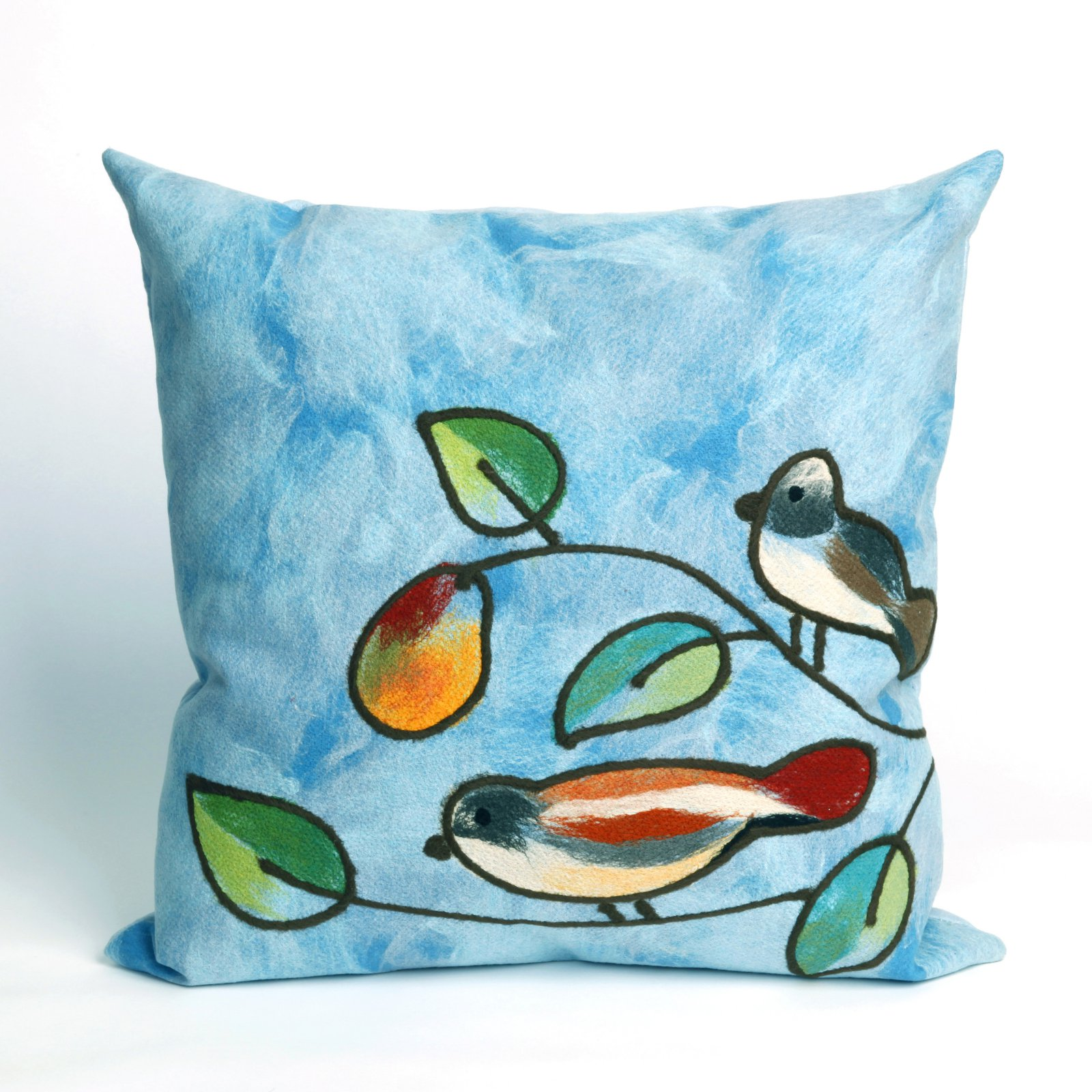 Liora Manne Song Birds Indoor / Outdoor Throw Pillow