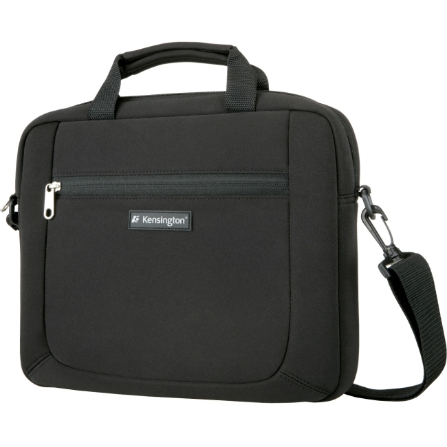 "Kensington SP12 Carrying Case (Sleeve) for 12"" Notebook, Netbook, Tablet, Digital Text Reader, Ultrabook, Charger, Cable, Accessories - Black - Scratch Resistant Interior - Neoprene - Shoulder Strap,"