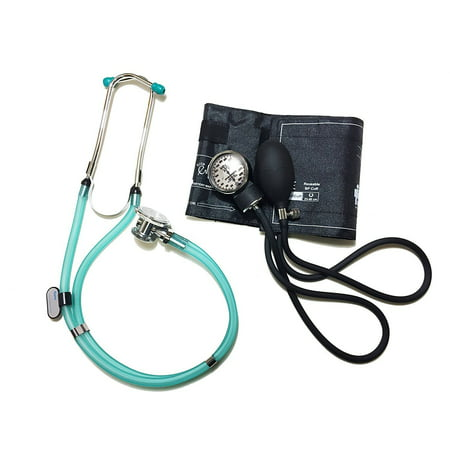 Emi Clear Sea Frost Sprague Rappaport Stethoscope And Black Blood Pressure Kit   M 340