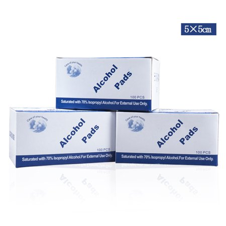 100Pcs/Box 5x5cm Alcohol Pads Disposable Disinfection Wound Alcohol Wipes Travel Accessories - image 5 of 6