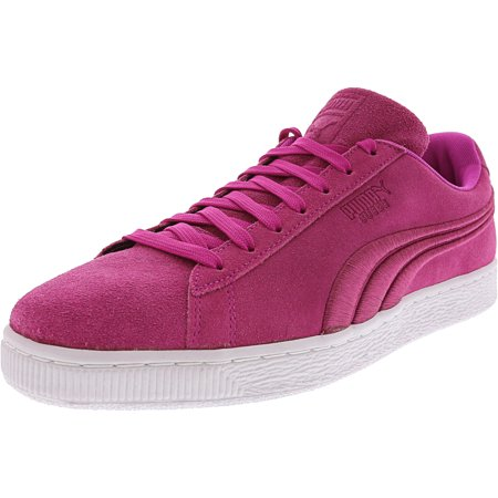 Puma Men's Suede Classic Badge Ultra Magenta Ankle-High Fashion Sneaker - 11.5M