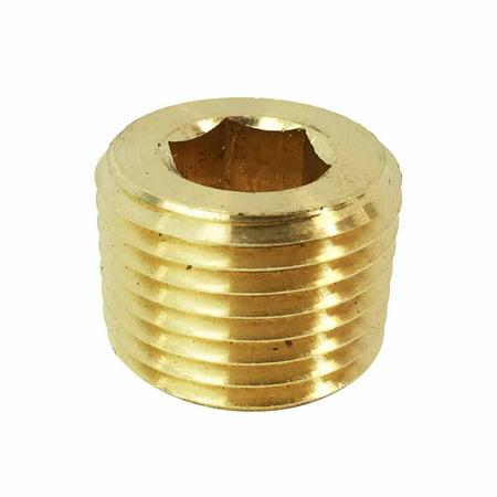 Interstate Pneumatics FPP22B Headless Brass Plug 1/8