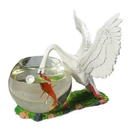 Aquarium Round Glass Fish Bowl Betta Home Decoration