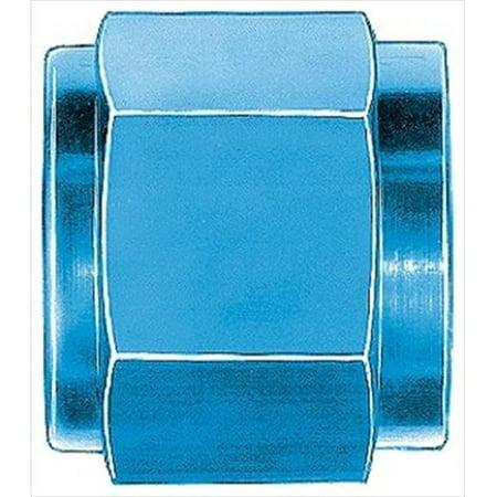 Anodized Aluminum Prop Nut - AEROQUIP FCM3675 Blue Anodized Aluminum -06An Tube Nuts
