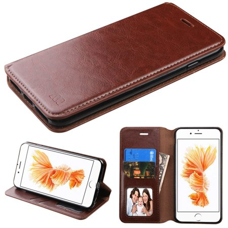 MyBat Wallet Leather Stand Case with card slot & photo display for Apple iPhone 8 Plus / iPhone 7 Plus -