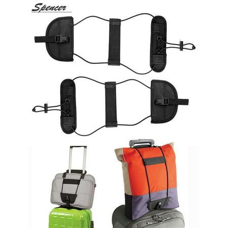 Spencer 2PCS Travel Luggage Suitcase Adjustable Belt Add A Bag Strap Carry On Bungee Packing Belt