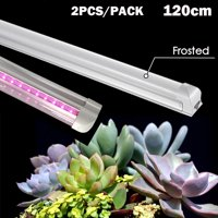 2x 4FT Plant LED Grow Light Kit Full Spectrum T8 Indoor Veg Flower Tubes Lamp