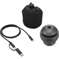 Lenovo Webcam - 30fps - Gun Metal - USB 3.0 - 1 Pack(s) VoIP 360 Camera Speaker 40AT360CWW