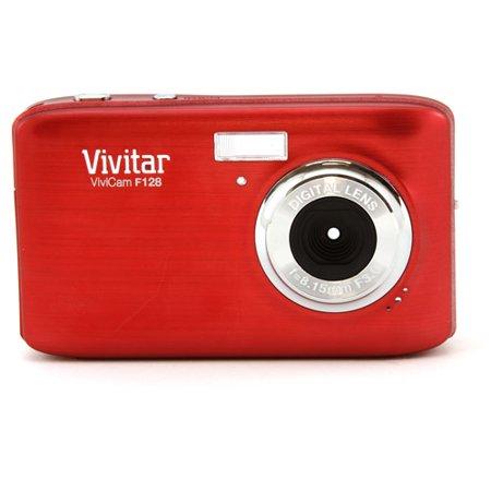 Vivitar Red ViviCam VF128 Digital Camera with 14.1 Megapixels