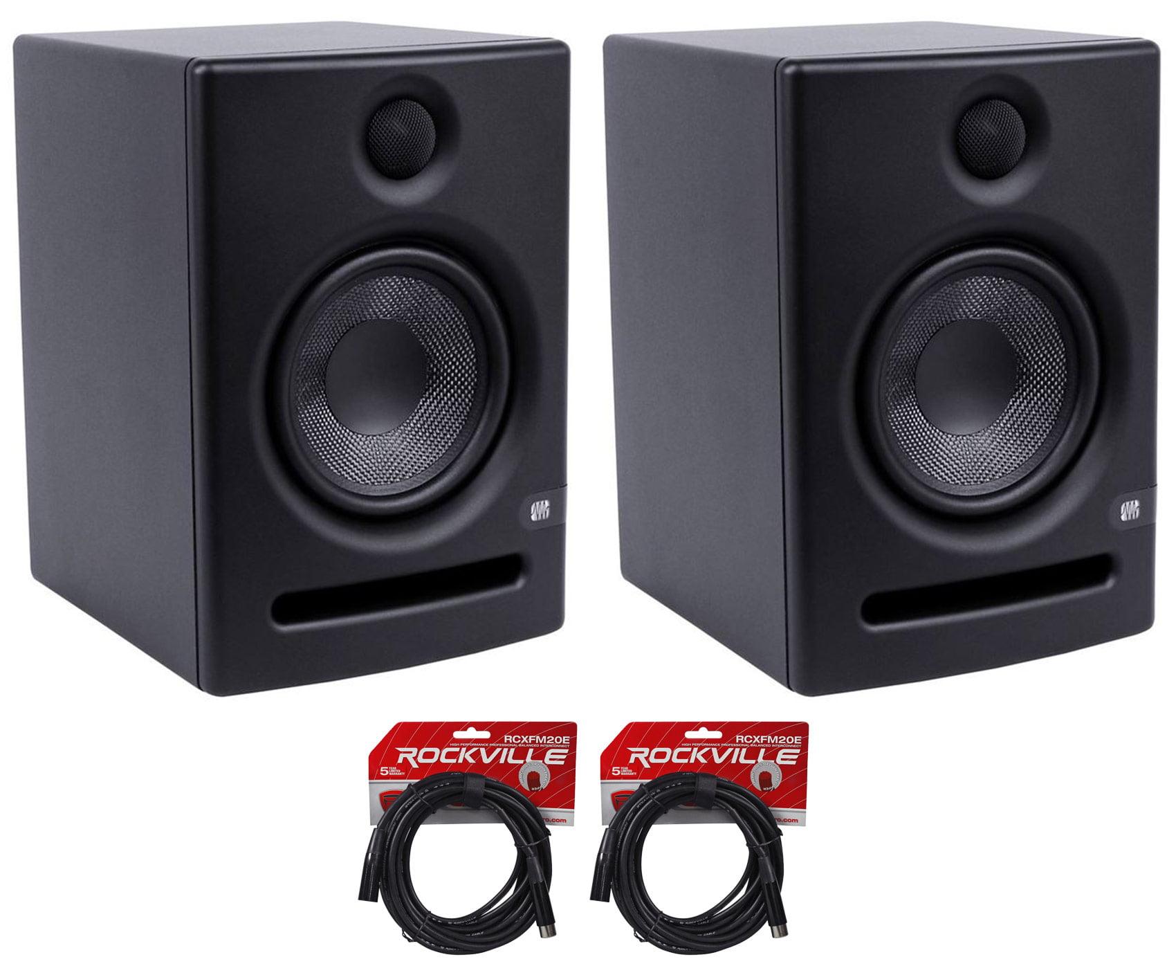 2x Presonus Eris E5 Active Powered Studio Monitors +FREE XLR Cables by PreSonus