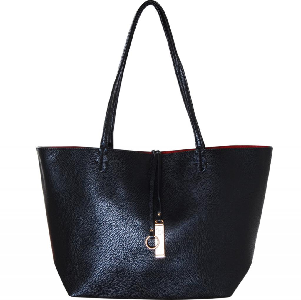 Oversized Top Handle Large Shoul Humble Chic Reversible Vegan Leather Tote Bag