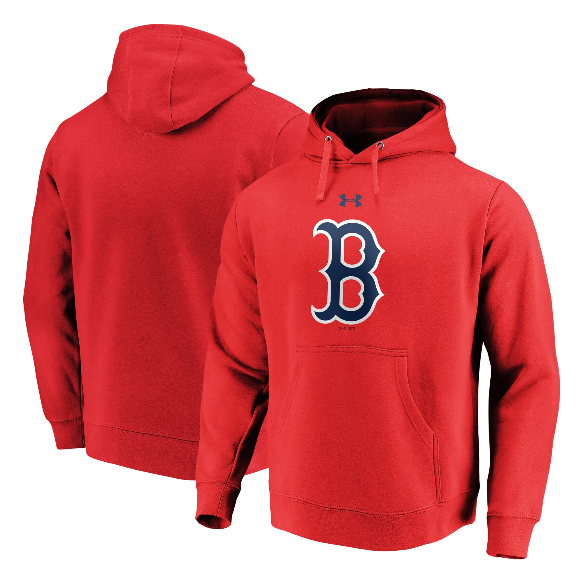Boston Red Sox Under Armour Commitment Team Mark Performance Pullover Hoodie - Red
