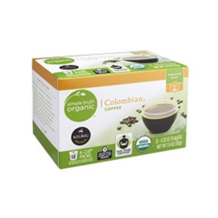 Keurig Organic Coffee - Simple Truth Organic Colombian Coffee Keurig K Cup 12 Cup Box
