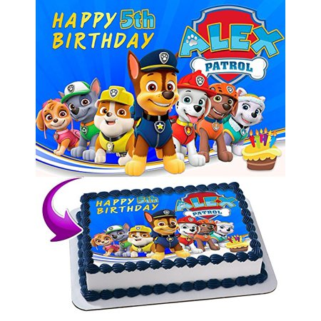 Paw Patrol Edible Cake Image Topper Personalized Icing Sugar Paper A4 Sheet Edible Frosting Photo Cake](Sugar Sheets)