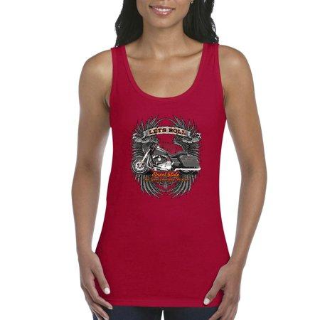 87f7f3b4 J_H_I - Biker Tank Top Let'S Roll Street Glide Womens Tops - Walmart.com