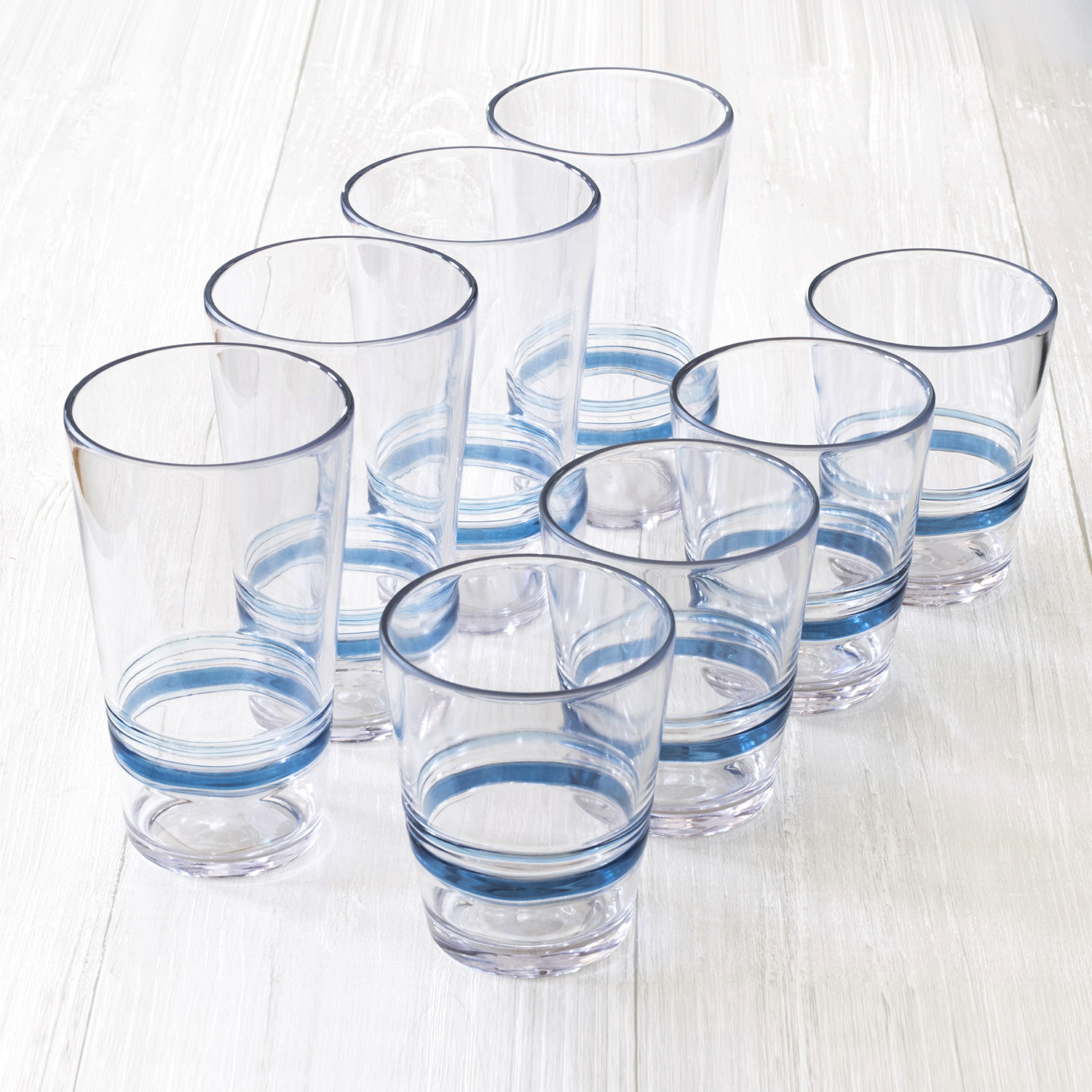 Better Homes & Gardens Blue Country Gatherings 8 Pack Drinkware
