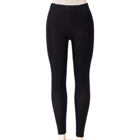 SAYFUT Women's Solid Color Leggings Seamless Stretchy Tights Pants Black Size S-3XL - Halloween Leggings Womens