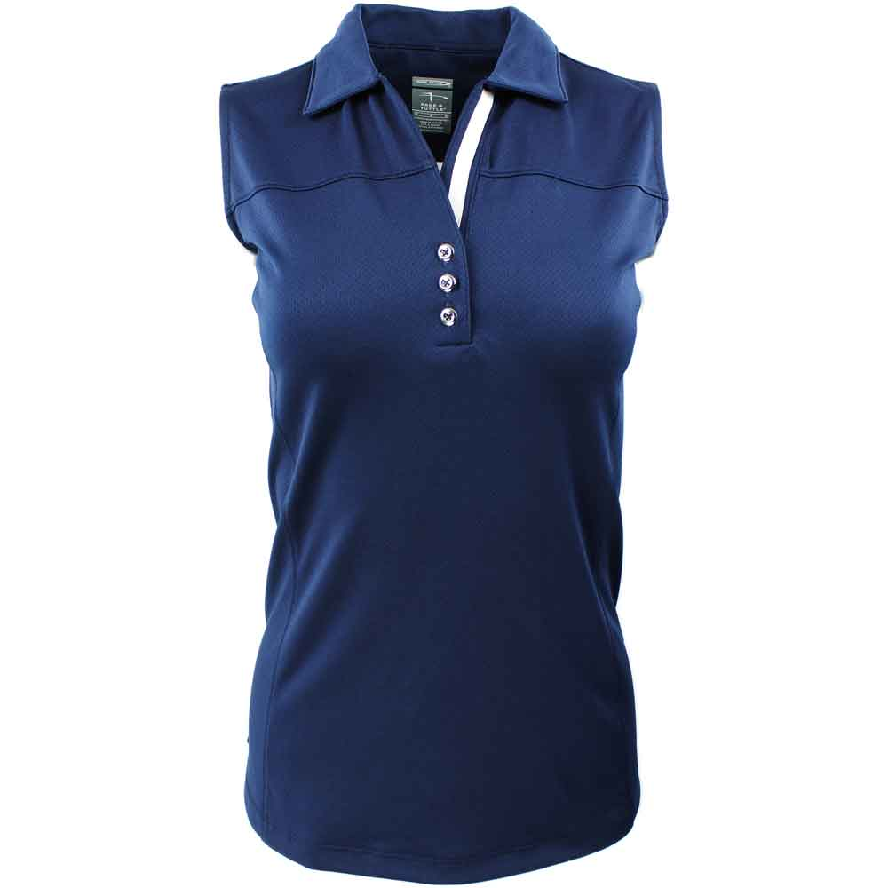 Page & Tuttle Womens Style Line Sleeveless Polo Casual Tops