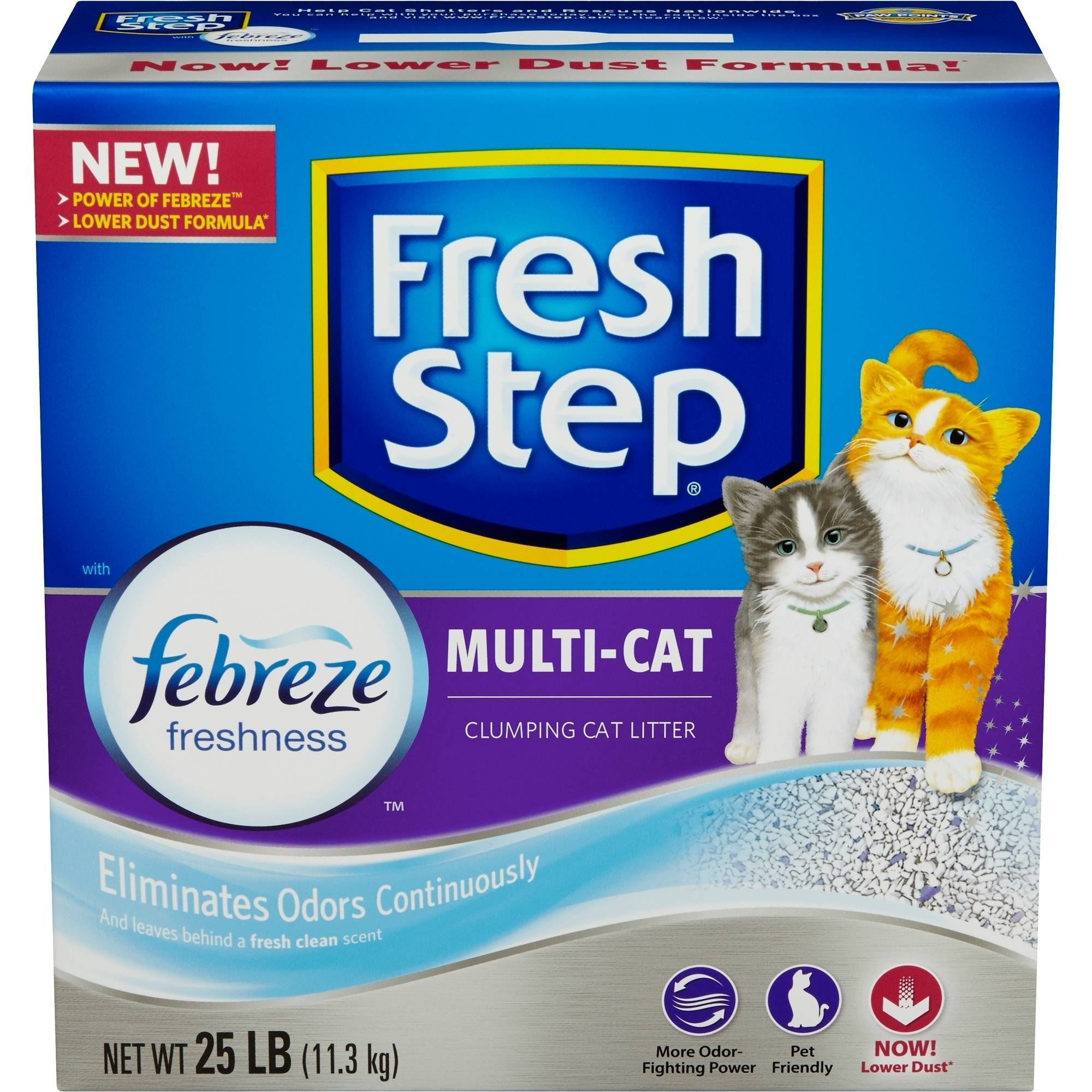 Fresh Step Multi-Cat Scented Scoopable Cat Litter, 25 Pounds