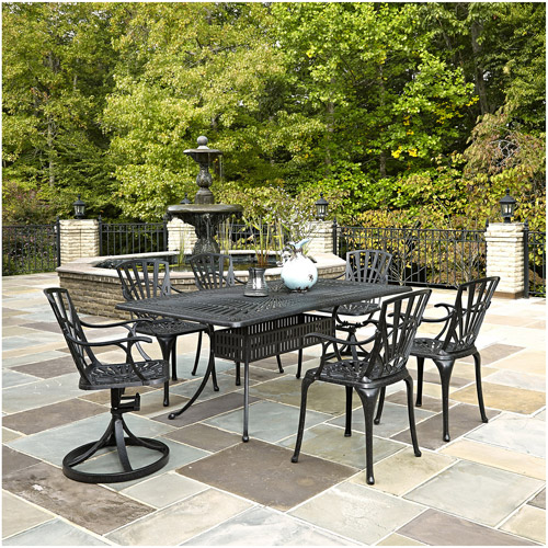 Home Styles Largo 7-Piece Dining Set, Charcoal