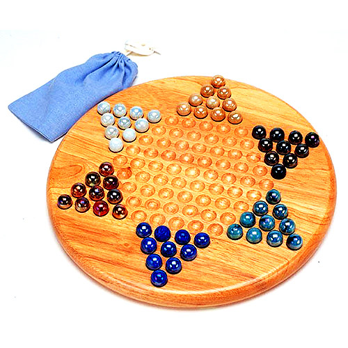 Chinese Checkers, Wooden Board