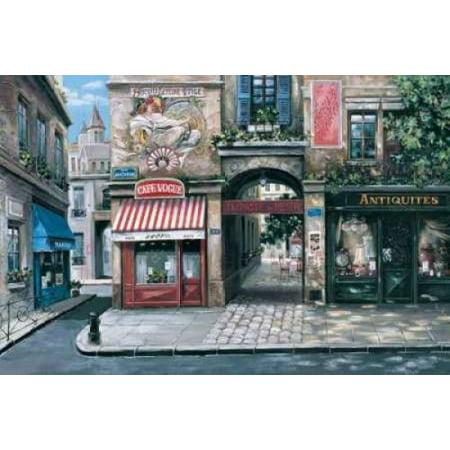 Vogue Cafe Stretched Canvas - Mark St John (10 x 14)