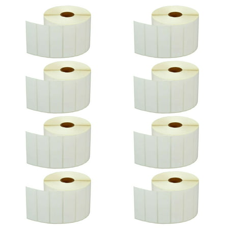 GREENCYCLE 8 Roll (2000 Labels/Roll) Compatible Direct Thermal Paper Label 3x1 inch 1
