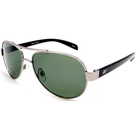 Unisex Polarized Retro Aviator Sunglasses - Nickel Plated Metal Frame Samba Shades