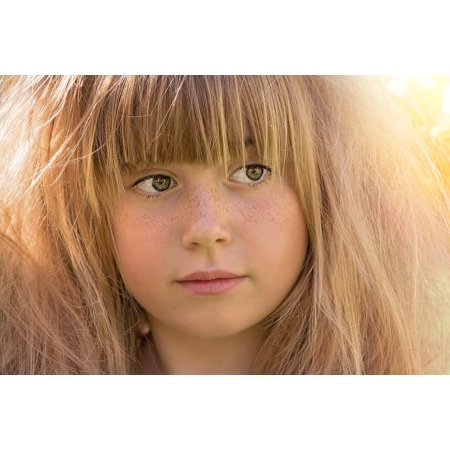 LAMINATED POSTER Child Face Close Person Human Portrait Girl Hair Poster Print 24 x 36